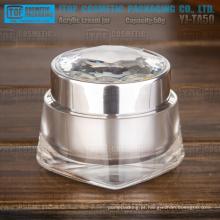 YJ-TA50 50g excelleng qualidade de luxo e frasco de cosmético acrílico elegante 50g