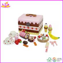 2014 nouveau gâteau d'anniversaire en bois bricolage jouets, enfants alimentaire série bricolage gâteau décoration en bois gâteau jouet W10b053