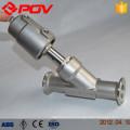 Toutes les valves d'angle sanitaires de catégorie comestible pnuematic d'acier inoxydable