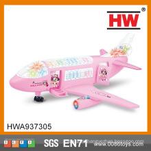 Magic barato juguete de plástico 3D modelo de avión musical