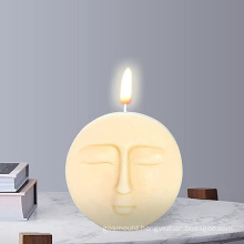 wholesale creative DIY handmade round soap mould moon faces silicon molds for candle making