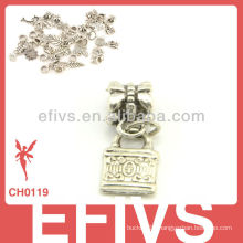 2013 New Fashion lock charms 925 silver pendant charms