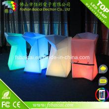Chaise haute LED à changement de couleur RGB pour bar