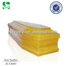 wholesale European style larch wood human coffin made in China