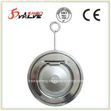 Válvula de retenção de aço inoxidável Thin Wafer Swing