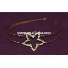 Bnd del pelo de los niños del Rhinestone de la venda coreana de las muchachas del diseño de la estrella