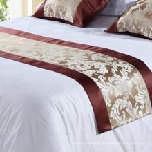 100% poliéster Hotel Bedding Decoração Bed Runner (DPH7780)
