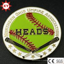 Pièce de baseball en métal faite sur commande de souvenir pour le club
