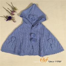 Plain Color Lovely Sweater Cardigan Cape Coat Cloak for Girls