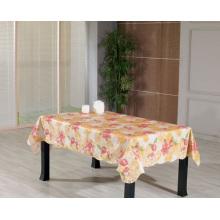 PVC-bedruckte Tischdecke mit Flanell-Unterstützung (TJ0080)