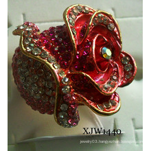 Diamond Big Red Enamel Ring (XJW1440)