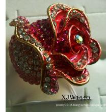 Diamante grande anel de esmalte vermelho (xjw1440)