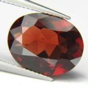 Oval Natural Loose Gemstones For Red Garnet Earings 8×6mm 1.35cts
