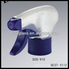 Spray de gatillo de plástico negro de 28 mm, desencadenador de pulverizador de botellas cosméticas, pulverizador de bomba de perfume