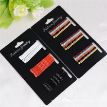 30 Stück Karte verpackt bunte Metall Haar Bobby Pins (JE1030)