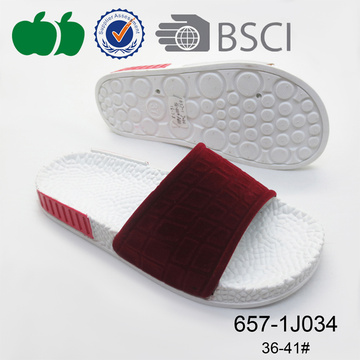 Comfortable Hot Sale Summer Flat Pcu Slippers