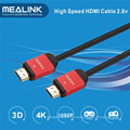 Nylon trenzado 24k oro plateado HDMI 1.4 2.0 Cable