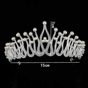 Coronas de perlas de boda de belleza únicas
