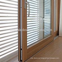 Doorwin Puerta corredera de vidrio Puerta divisoria de vidrio de aluminio revestido de roble puerta corredera de China proveedor