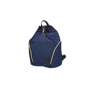Saco de fraldas de mochila de couro