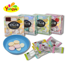 Sweet Fruity Flavor Dry Eat Hard Milk Tablet Pressed Candy