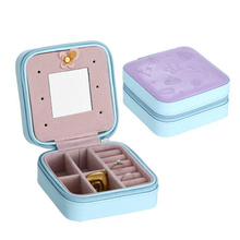 plastic products PU portable jewelry traveling display cases
