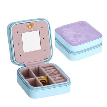 Productos de plástico PU joyas portátiles vitrinas de viaje
