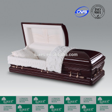 Wooden Caskets LUXES US Style Mahogany Wood Casket Alsace