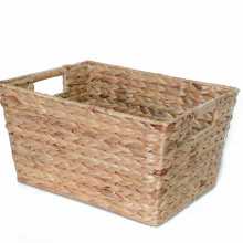 Woven Rectangular Water Hyacinth Storage Basket
