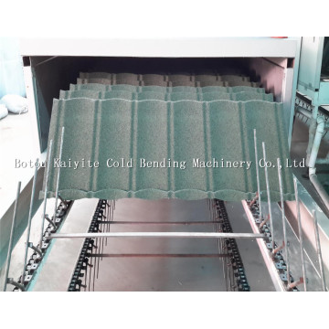 Colorful Stone Coated Metal Roof Tile Machine