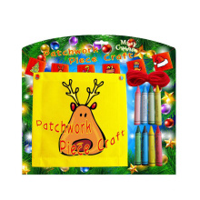 with crayon kids craft christmas decoration patchwork outdoor flag
