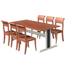 School Canteen Dinner Table with relatived Chiars