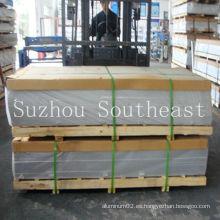 T4 6061 hoja de metal de aluminio / placa para marino