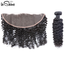 Perfect Grade Wholesale 100% Brazilian Real Cuticle Aligned Hair Bundles With Silk Base Closure