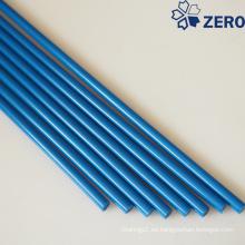Varilla de acetal de color azul