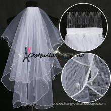 Lastest Classic Elfenbein Weiß und nach Maß Braut Hochzeit Schleier