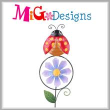 Cute Ladybird Jardín Estaca Mano-Impresión Molino de viento