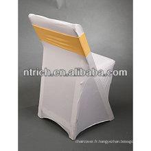 Couverture de meubles d'extérieur chaise empilable spandex lycra