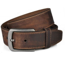 Western style mens vintage leather belt