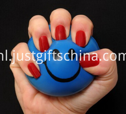 Custom Round PU Stress Ball Bulk - 6