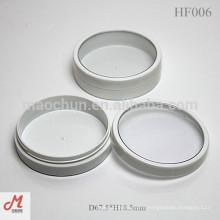 HF006 White round cream plastic cosmetic jar