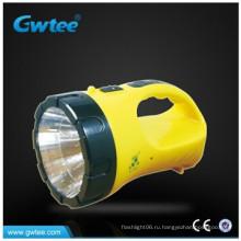 С батарейным питанием ABS корпус хорошее качество 2 W led flashlight with desk light