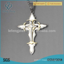 Fashion designer jewelry steel custom religious cross pendants