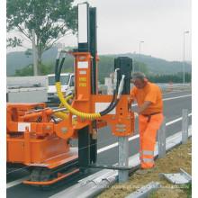 Motorista de pilha movido a diesel do corrimão do pounder da cerca