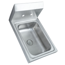 Wall Mount Hand Basin Sink With Backsplash