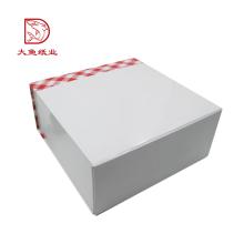 Caja de torta hermosa impresa blanca personalizada popular de encargo de China