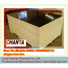 Linyi billigste 18mm schwarze Farbe Pappel Kern marine Sperrholz