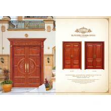 Projetos interiores de porta de madeira para casa e projeto