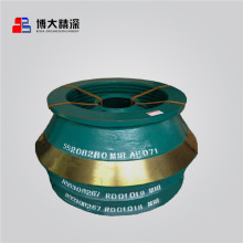 Metsos cone crusher spare parts bowl liner