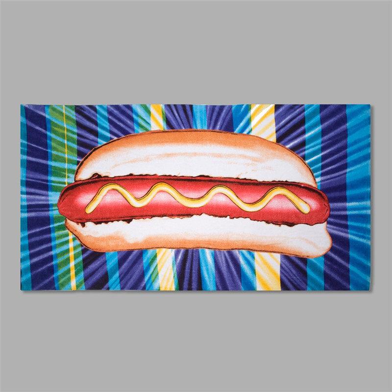 Printed Micro Fiber Cartoon Rectangular Beach Towel